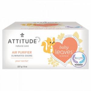 Purificator de aer baby leaves, Attitude, pt camera copiilor, cu nectar de pere, 227 g