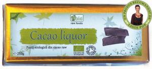 Cacao liquor raw bio 250g - 100% cruda si ecologica