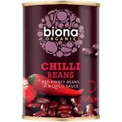 Fasole rosie in sos chilli eco 395g Biona