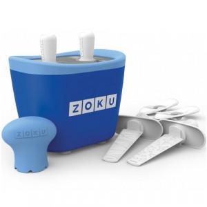 Aparat pentru preparat inghetata instant cu 2 incinte Zoku ZK107-BL Albastru