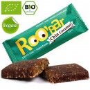 Baton proteic raw bio cu seminte de chia si cocos Roo'Bar 30g