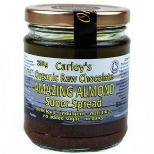 Crema tartinabila raw cu ciocolata si migdale bio Carleys 250g
