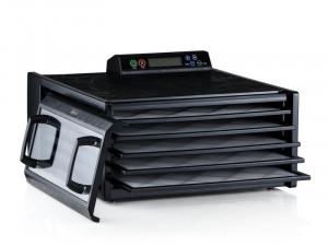 Excalibur Deshidrator negru cu 5 tavi, timer, controler digital si usa transparenta 3548CDB