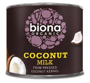 Lapte de cocos bio Biona, 200ml