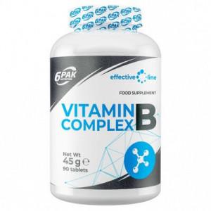 VITAMIN B COMPLEX, 90 TABLETE, 6PAK NUTRITION