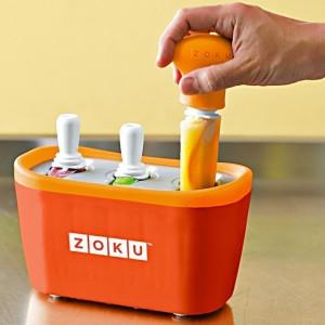 Aparat pentru preparat inghetata instant cu 3 incinte Zoku ZK101-OR Portocaliu