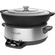 Aparat de gatit Crock Pot slow cooker 6 L, Digital CSC011X-01