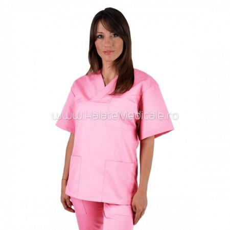 Bluza medicala unisex roz