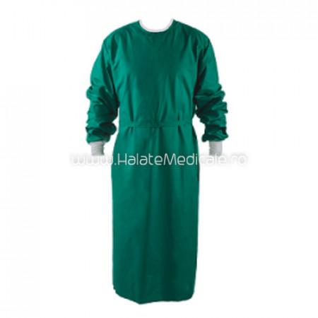 Halat chirurgical verde autoclavabil
