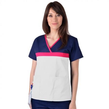 Bluza medicala ColorMIX din bumbac satinat