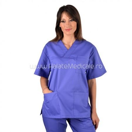 Bluza medicala unisex mov