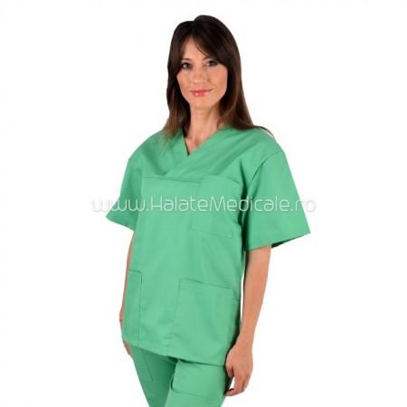 Bluza medicala unisex vernil