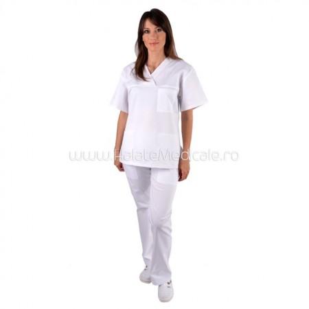 Costum unisex alb