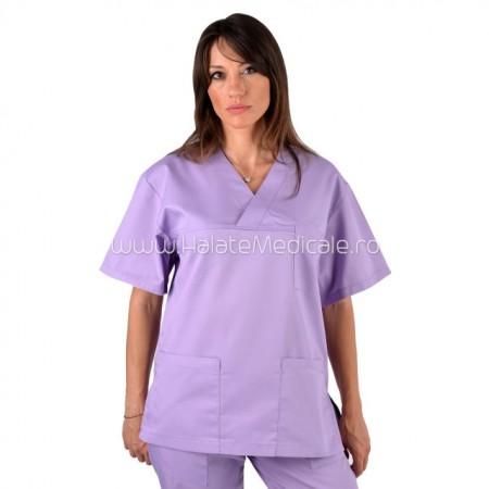 Bluza medicala unisex lila