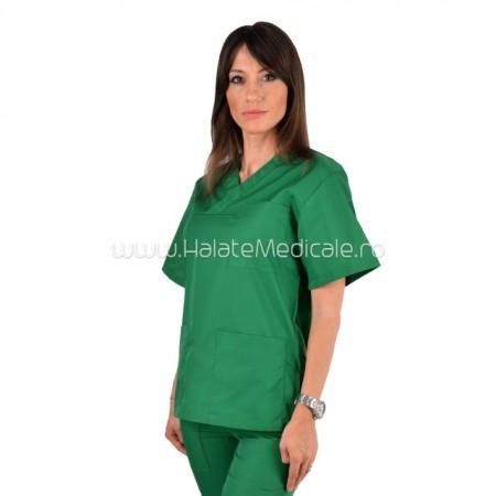 Bluza medicala unisex verde