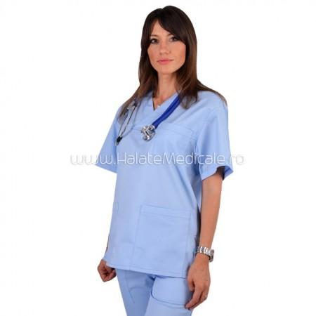 Bluza medicala unisex bleu