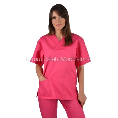 Bluza medicala unisex ciclam