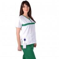 Bluza ColorMIX Alb/Verde