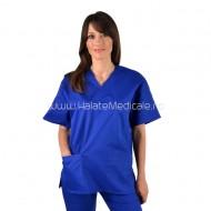 Bluza medicala unisex albastra