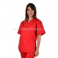Bluza medicala unisex rosu