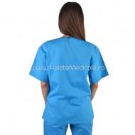 Bluza medicala unisex turquoise
