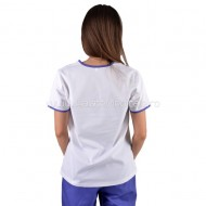 Bluza medicala cu broderie mov / lila