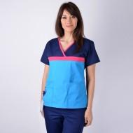 Bluza medicala ColorMIX bleumarin / turcoaz
