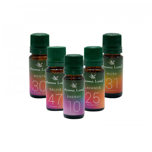 Pachet 5 uleiuri parfumate Office, Aroma Land, 10 ml