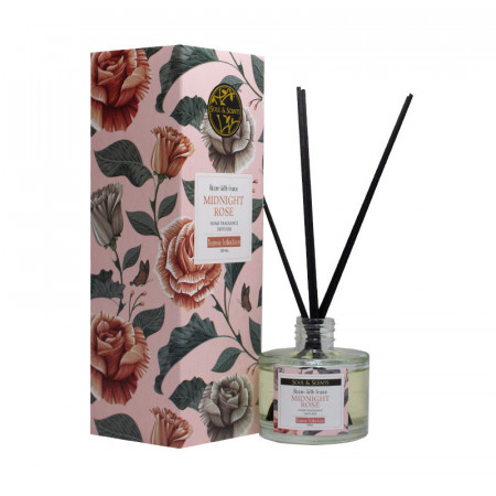 Reed diffuser Midnight Rose, S&S India, 120 ml