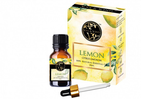 Ulei esential Lemon,  S&S India, 100% Natural, 10 ml