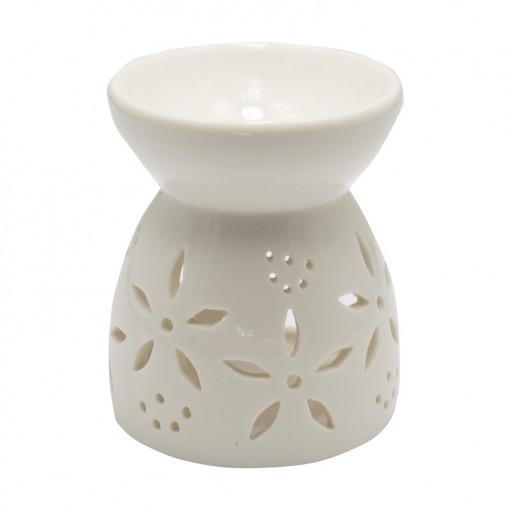 Difuzor ceramic alb de uleiuri de aromaterapie