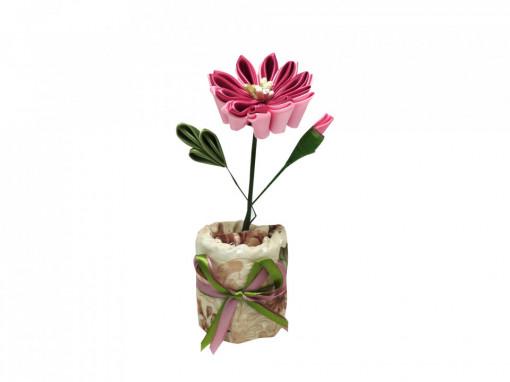 Floare textila roz cu carbune activ bambus, Aroma Land, Odorizare & Decor
