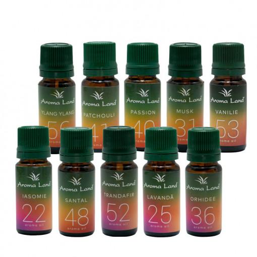 Pachet 10 uleiuri aromaterapie Romance, Aroma Land, 10 ml