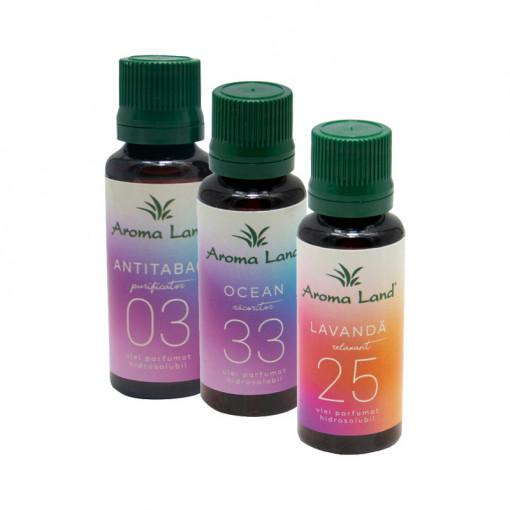 Pachet 3 uleiuri hidrosolubile, Aroma Land, 30 ml