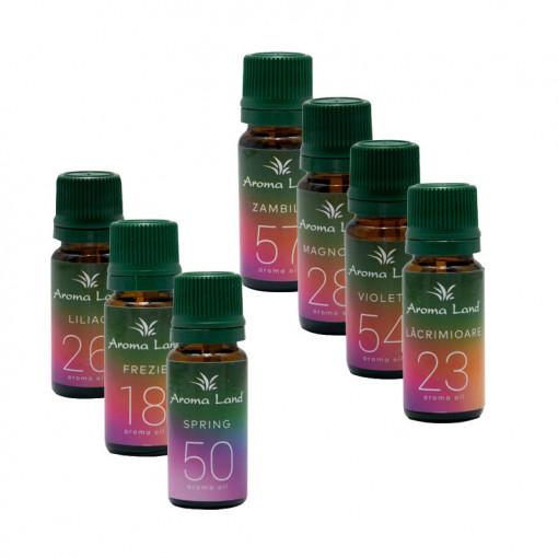 Pachet 7 uleiuri parfumate Spring Moments, Aroma Land, 10 ml