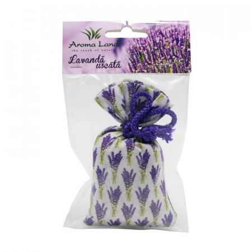 Saculet parfumat Lavanda naturala, Aroma Land, 30g