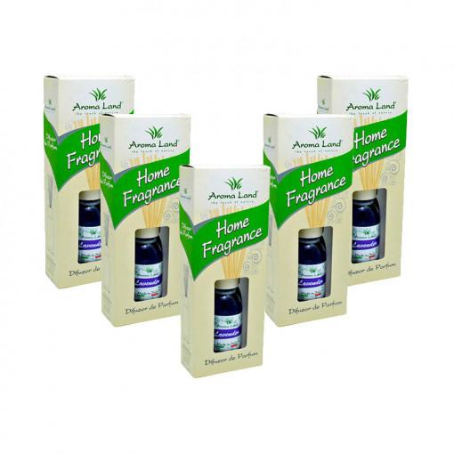 Pachet 5 Reed Diffuser Lavanda, Aroma Land, 125 ml