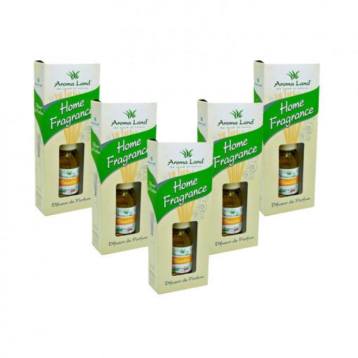 Pachet 5 Reed Diffuser Vanilie, Aroma Land, 125 ml