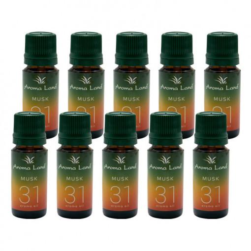 Pachet 20 uleiuri aromaterapie Musk, Aroma Land, 10 ml