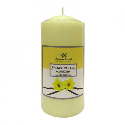 Lumanare parfumata stalp, Vanilie, 55h