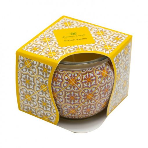 Lumanare decorativa in cutie, Vanilie, 20h, Aroma Land