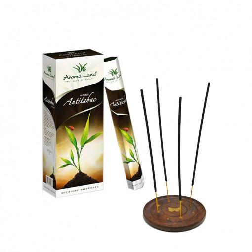 Set 6 cutii betisoare parfumate Antitabac + Suport, Aroma Land