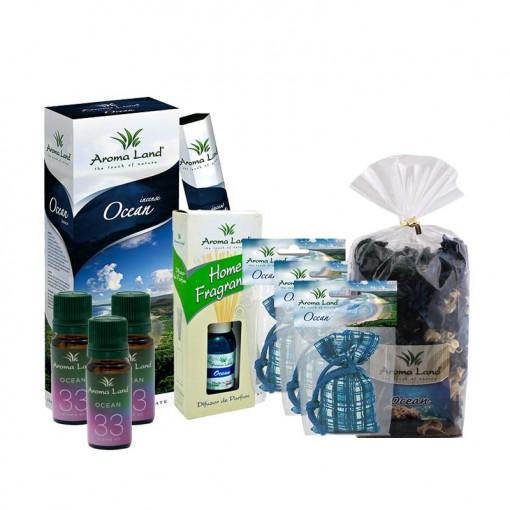 Pachet aromaterapie Ocean, Aroma Land, 9 buc