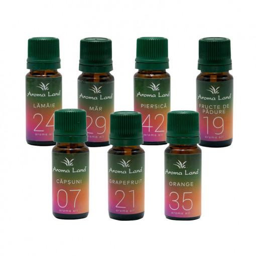Pachet 7 uleiuri parfumate Fruits Delight, Aroma Land, 10 ml