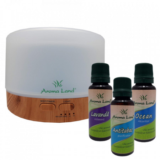 Pachet Aroma Difuzor Oslo + 3 uleiuri hidrosolubile