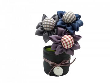 Flori textile parfumate cu carbune activ bambus, Odorizare & Decor