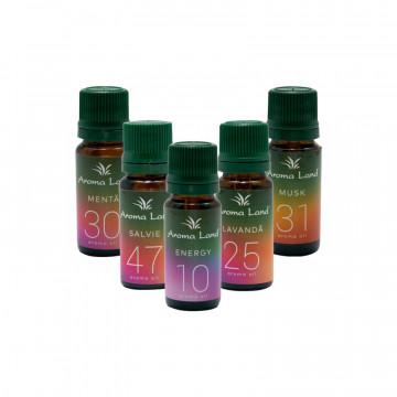 Pachet 5 uleiuri aromaterapie parfumate Office, Aroma Land, 10 ml