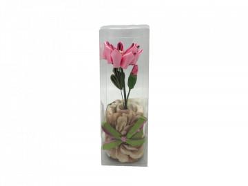 Floare textila roz cu carbune activ bambus, Odorizare & Decor