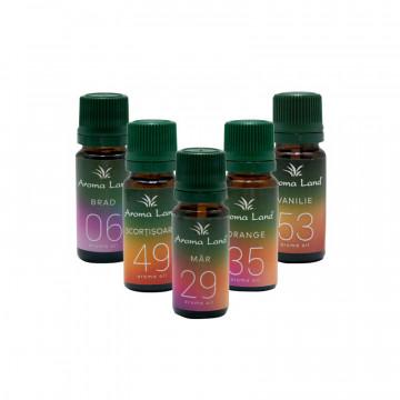 Pachet 5 uleiuri aromaterapie Parfum de Craciun, Aroma Land, 10 ml