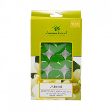 Set 15 lumanari parfumate pastila, Iasomie, 3 ore